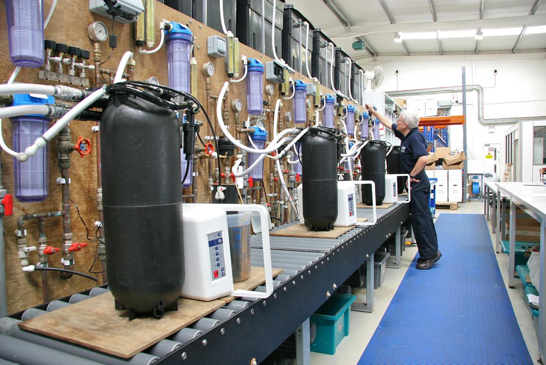 Aquasensor waterverzachters: productie